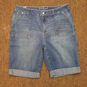 Gloria Vanderbilt Bermuda Jeans Shorts